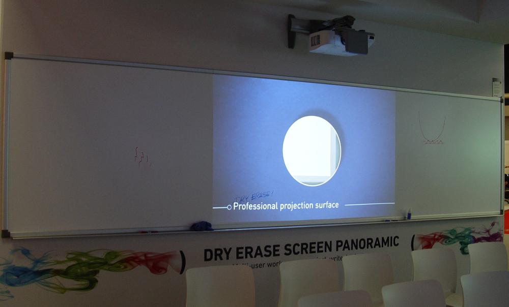 Panorama-Ausführung der Dry Erase Screen