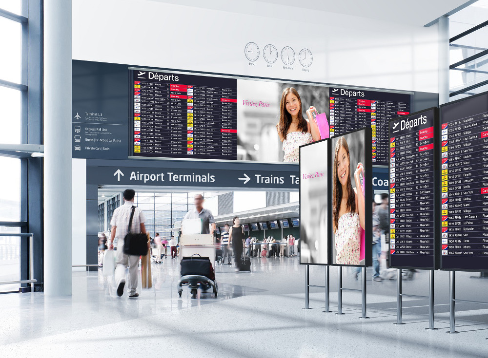 LED-Displays am Flughafen